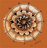 Flower mandala - example of Zen of Doodling by Penelope Thompson - Explore Creativity